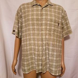 PrAna Mens XL button up Shirt checkered